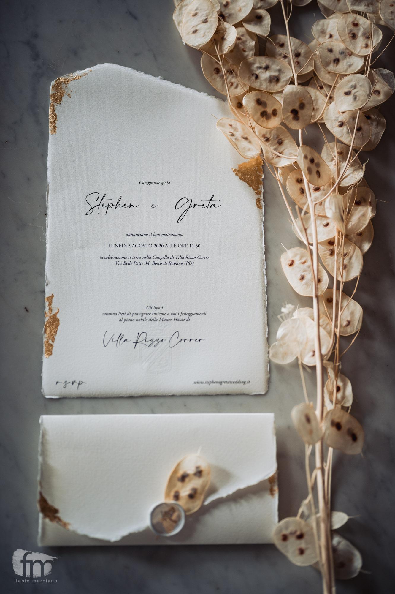 elegant wedding in villa stationery