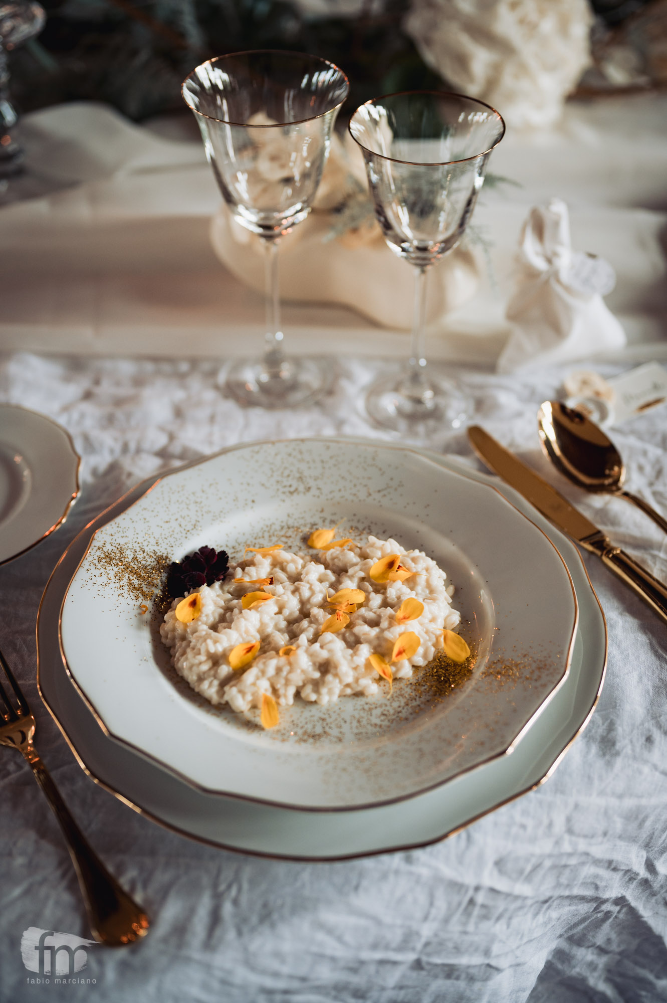 elegant wedding in villa food