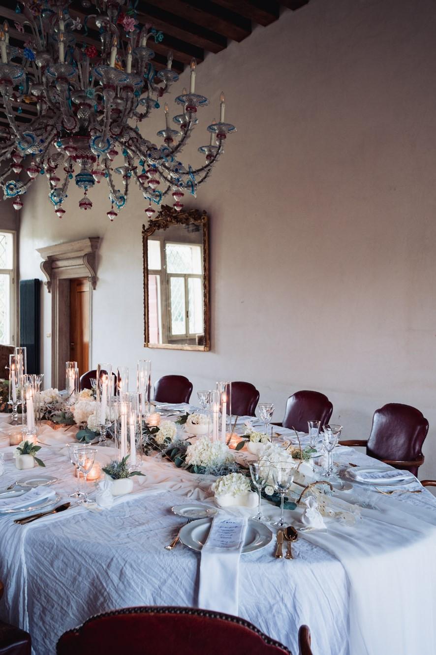 elegant wedding in villa table